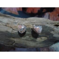 Boucles d'oreille vermeil et Vert d'Orezza