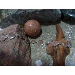 Bracelet argent massif et Rouge de Porto