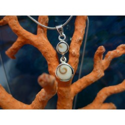 Sterling silver pendant with the Eye of Saint Lucia