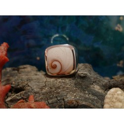 Sterling silver ring with the true Mediterranean Eye of Saint Lucia