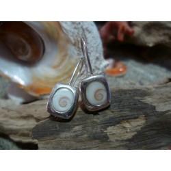 Boucles d'oreille oeil de Sainte Lucie et argent massif