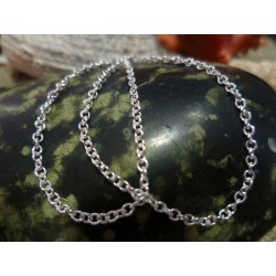 Sterling silver chain necklace 50 cm