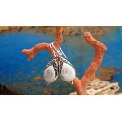 Sterling silver earrings with the true Mediterranean Eye of Saint Lucia