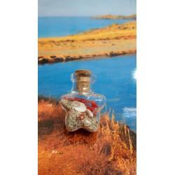 bouteille verre et oeil de Sainte Lucie