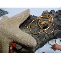 Vermeil chain necklace 40 cm